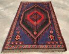 Authentic Hand Knotted Afghan Taimani Balouch Wool Area Rug 4.5 x 2.9 (482 HMN)