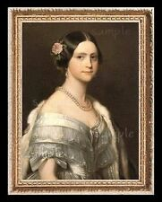 Dollhouse Art Picture Miniature Framed Print 1:12 Scale 1800's Lady A6591 New