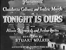 TONIGHT IS OURS ~  Fredrick March,Claudette Colbert  1933 region free DVD