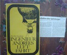 Ingenieur Andrées Luftfahrt SUNDMAN Buch und Zeitungsausschnitt Allgäuer Zeitung