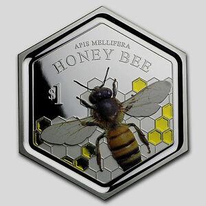 New Zealand - 2016 - 1 OZ Silver Proof Coin- Honey Bee Coin!! Scarce