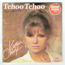 karen CHERYL Disque 45T Couleur Rouge TCHOO TCHOO HOLD ON THE LINE -IBACH 60105