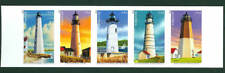 Imperf New England Lighthouses strip of 5 mint self-adhesive 2013 USA #4791-4795
