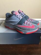 Men's Grey Nike KD VII Sneakers Size 10  Excellent Preowned Condition