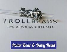 TROLLBEADS AUTHENTIC POLAR BEAR & BABY BEAD