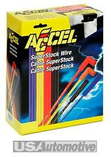 ACCEL UPRATED 7mm YELLOW SUPER STOCK SPARK PLUG LEADS WIRES-Straight