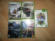 Lot of 4 Xbox 360 Games L.A. Noire Sims 3,Halo 3 ODST, Need for Speed Pro street