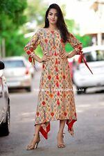 Indian Bollywood Kurta Kurti Designer Women Ethnic Dress Top Tunic Rayon Kurta