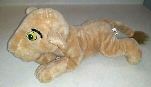 "Baby Simba Walt Disney World Plush Stuffed Lion Cub 13"" Green Eyes"