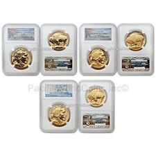 USA 2013 Buffalo 100th Anni. of the design 3pc Gold NGC Grade 69 Set