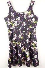 Torrid Womens Dress Size Plus 2 2X Black Floral Sleeveless