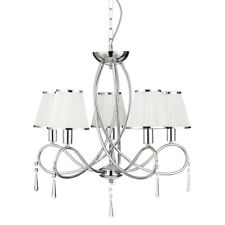 Searchlight 1035-5CC Simplicity Chrome 5 Light Fitting With White Shades