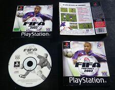 JEU Sony PLAYSTATION PS1 PS2 : FIFA FOOTBALL 2002 (EA Sports COMPLET suivi)