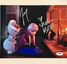 JOSH GAD & KRISTEN BELL Signed Disney FROZEN Olaf & Anna 8x10 Photo PSA/DNA COA