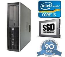 Fast Cheap HP 8300 Quad Core i5 120Gb SSD 8GB RAM Desktop Windows 10 PC computer