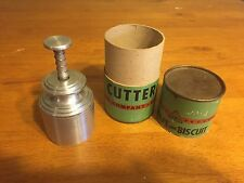 LEWIS CANAPE BISCUIT CUTTER , USA, STAINLESS STEEL, VINTAGE ORIGINAL BOX