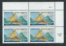 Scott # 3389... 33 Cent...American Samoa...Plate Block