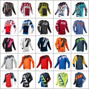 Men's Fox MTB Racing Jersey Long Sleeve Motocross/MX/ATV/BMX Dirt Bike Clothing