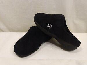 ISOTONER Women's Slip On Cushioned Slippers Slides Black Size 6.5-7