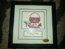 """SHOE AND HANDBAG DIVA 9"""" x 9"""" Framed Art Picture BY MPRESSIONS Limited Ed. NEW"""