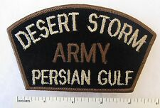 US ARMY DESERT STORM PERSIAN GULF PATCH for CAP / HAT Tan on Black