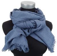 Écharpe pour Femmes Bleu Gris Par Ella Jonte Souple Noble Classique Large Neuf