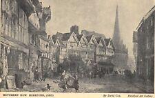 Art Postcard, Butchers Row, Hereford (1815) by David Cox 93U