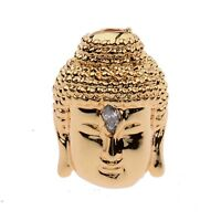 Copper plating Gracious Buddha head Bracelet Connector Charm Beads Cubic Zircorn