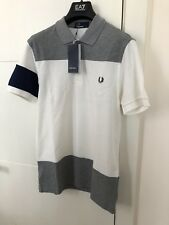 Mens Fred Perry Block Panel Polo Shirt Size Medium