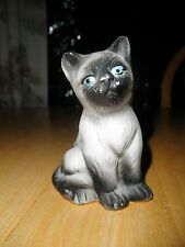 Vintage CAT Kitten Antique Figurine Statue Porcelain Siamese Chocolate Point Old