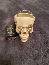 Small Yankee Candle Skull Votive Holder With Yankee Candle Witches Brew Votive