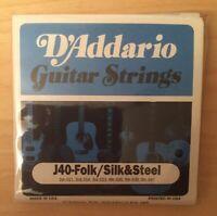 D'Addario J40-Folk Satz Silbersaiten&Stahl Akustikgitarre 011'-047' Si(6-String)
