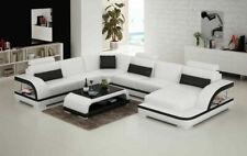 Leather Sofa Couch Interior Design Corner Set Modern G8011 New