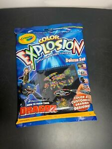 2010 Crayola Color Explosion How to Train your Dragon Night Fury Unused Sealed