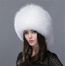 new Genuine Real fashion Winter Women fox fur New Hat Cap Headgear Beanie B1