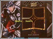 UD BLACK 2009 RICK NASH NHL COLUMBUS BLUE JACKETS RARE QUAD GAME JERSEY /99