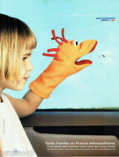 PUBLICITE ADVERTISING 016  2002  AIR FRANCE   tarif famille