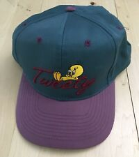 OFFICIAL LOONEY TUNES TWEETY STITCHED BIRD HAT SNAPBACK 1998 VINTAGE GREEN