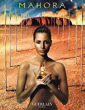 PUBLICITE ADVERTISING 045  2000  GUERLAIN   parfum femme  MAHORA