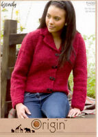 "Wendy Knitting Pattern 5499 Fitted Blazer Jacket Chunky 30-44"" Ladies Origin NEW"