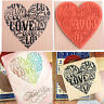 Wooden Rubber Love Heart Stamp For Diary Scrapbooking Card Making DIY Craft SG