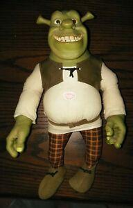 Shrek 16 Inch Talking/Smiling Shrek McFarlane Toys Stuffed/Plastic Doll