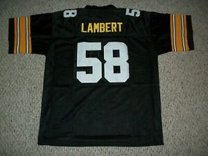 JACK LAMBERT Unsigned Custom Black Pittsburgh Sewn New Football Jersey Sze S-3XL