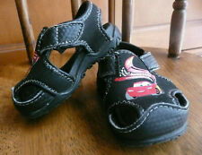 Toddler boys DISNEY PIXAR CARS Lightning McQueen black sandals size 3W