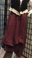 """LADIES BROWN GAUZE LONG 35"""" SKIRT-COLONIAL RENAISSANCE GYPSY ADULT LARGE TO 40"""""""