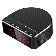 Digital Alarm Clock Bluetooth Speaker FM Radio AUX-in USB Bedside LED Clock FG