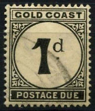 Gold Coast 1923 SG#D2, 1d Postage Dues Used #D52038