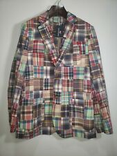 NWT MEN'S VINYARD VINES MADRAS/PATCHWORK JACKET SPORTSCOAT BLAZER SZ 38 REGULAR