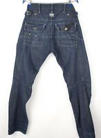 G-Star Brut Hommes Trail 5620 Conique Jeans Jambe Droite Taille W32 L32 AVZ25