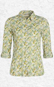 Seasalt Womens Larissa Shirt Spring Border Dill, RRP £42.95